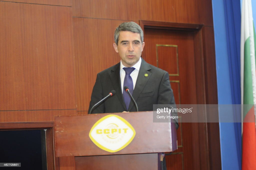 Bulgarian President Rossen Plevneliev delivers a speech during the Bulgaria-China Business Forum on January 14, 2014 in Beijing, China. Rossen Plevneliev is on a four-day official state visit to China.