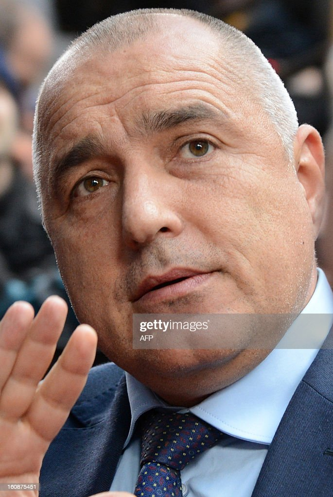 Bulgarian Prime Minister Boyko Borisov arrives at the EU Headquarters on February 7, 2013 in Brussels, on the first day of a two-day European Union leaders summit. European Union leaders head into a fresh clash over the EU's budget with the only certainty being that proposals for several years will be cut back.
