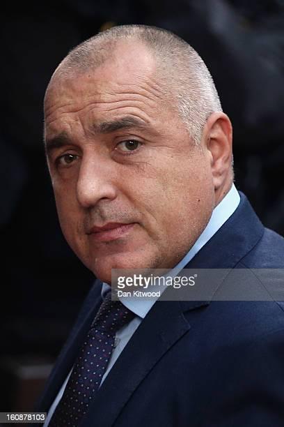 Bulgarian Prime Minister Boyko Borisov arrives for the start of the European Council Meeting on February 7 2013 in Brussels Belgium The President of...