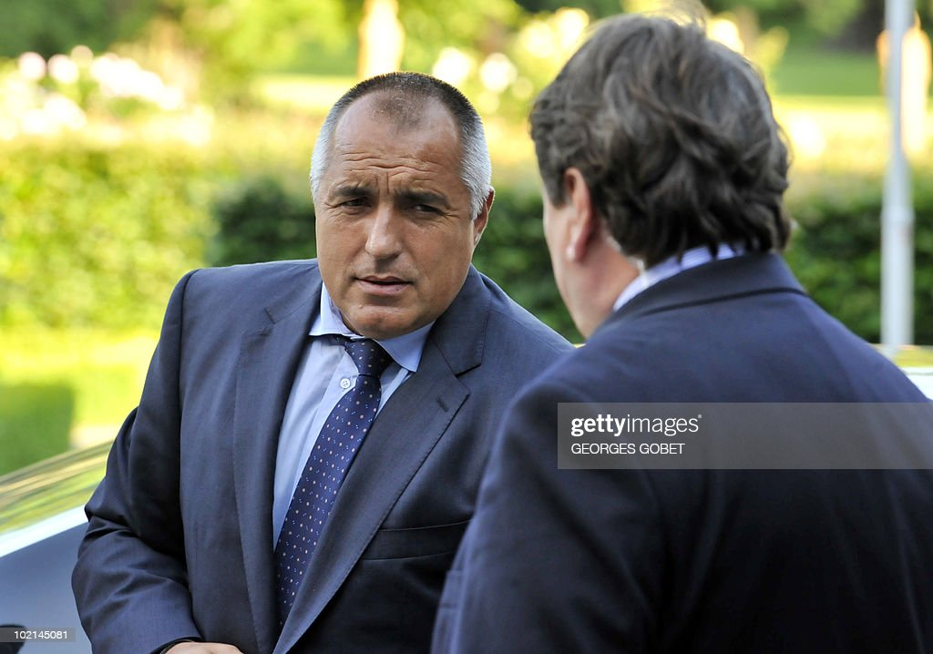 Bulgarian Prime Minister Boyko Borissov arrives for a statutory Summit of the European People's Party (EPP), on June 16, 2010 in Meise, near Brussels, on the eve of an European Council gathering EU's heads of state. During the one-day meeting, EU leaders are expected to adopt 'Europe 2020', the new strategy for jobs and growth, and will also discuss the forthcoming G 20 summit, economic governance and post-Copenhagen climate strategy.