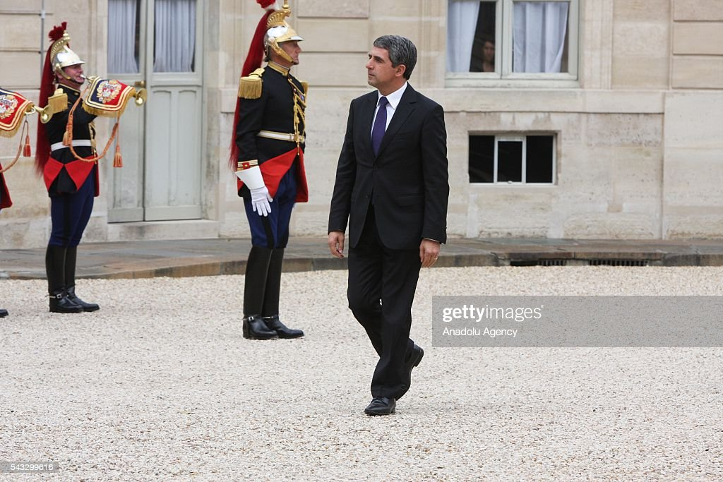 Bulgarian Prime Minister Rosen Plevneliev arrives at the Elysee Palace in Paris, France on June 27, 2016.