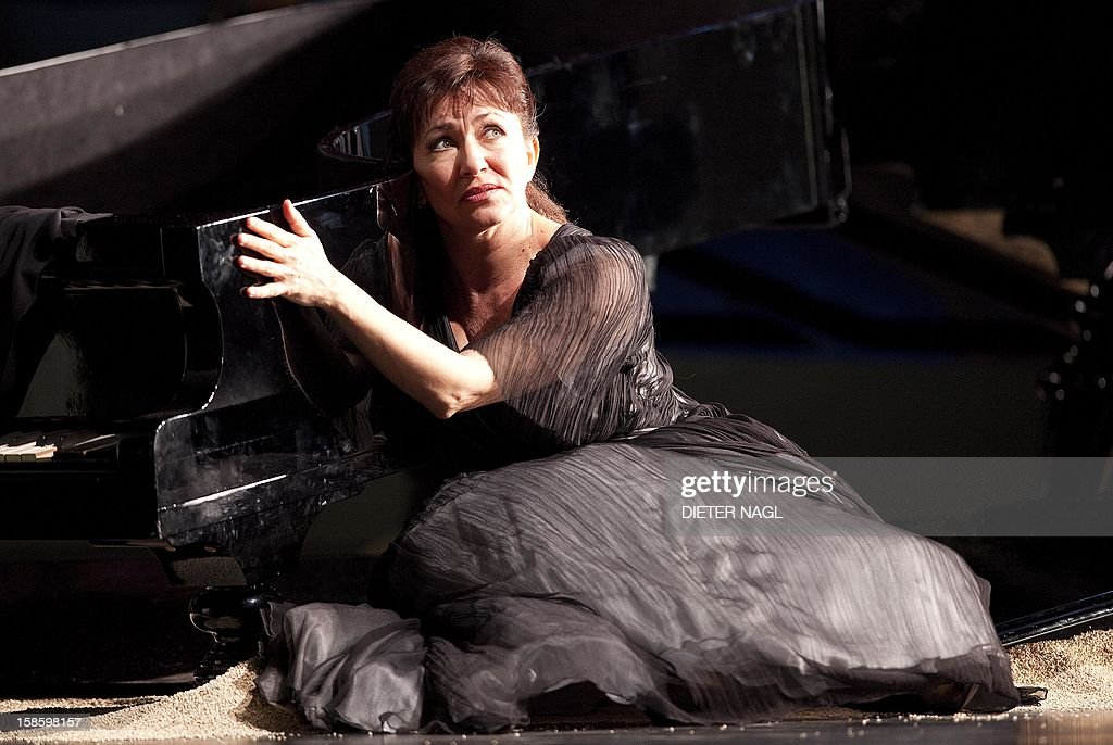 Bulgarian soprano Krassimira Stoyanova as Ariadne performs at the general rehearsal of a new production of the opera 'Ariadne at Naxos' on December 15, 2012 at the stateopera in Vienna.