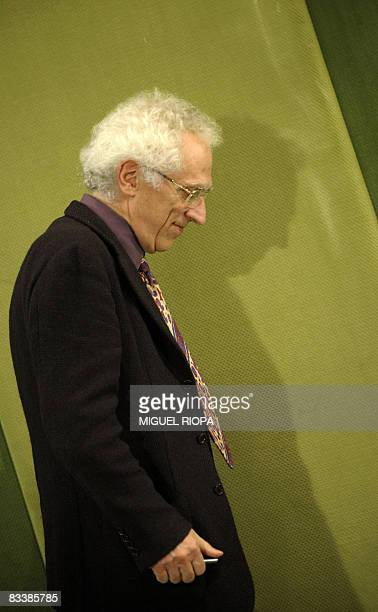Bulgarianborn French philosopher Tzvetan Todorov walks to a press conference in Oviedo on October 22 2008 Todorov has been awarded the 2008 Prince of...