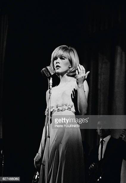 Bulgarianborn singer Sylvie Vartan during her first concert at the Olympia Hall in Paris