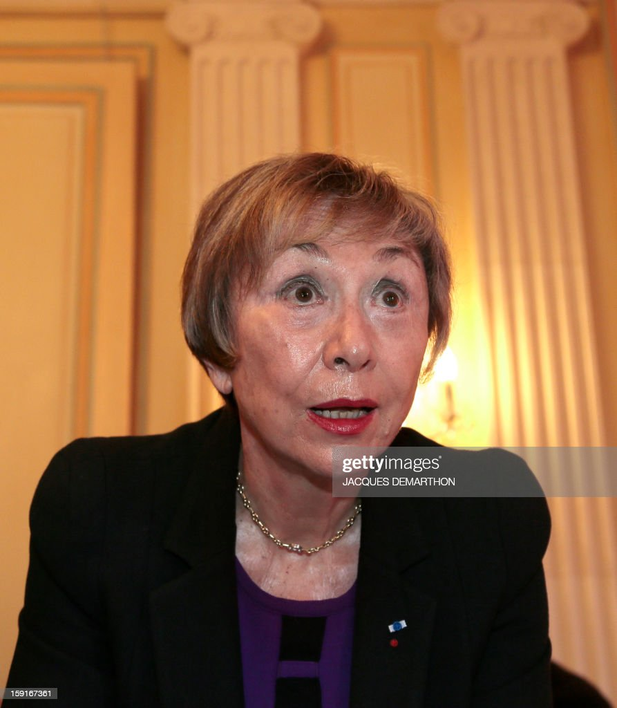 Bulgarian-French philosopher and writer Julia Kristeva looks on during the Simone de Beauvoir awards ceremony, in Paris on January 9, 2013. The 2013 Simone de Beauvoir prize for the freedom of women was handed to Malala Yousafzai, the young Pakistani schoolgirl activist who was the victim of an assasination attempt by the Taliban in 2012 and become a symbol of the struggle for girls' education and women's rights in Pakistan. Malala was flown to the United Kingdom with a life-threatening head wound shortly after her attack but recovered from her injuries and was temporarily discharged on January 4 as she awaits more surgery.