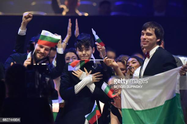 BulgarianRussian singer representing Bulgaria with the song 'Beautiful mess' Kristian Konstantinov Kostov aka Kristian Kostov reacts after arriving...