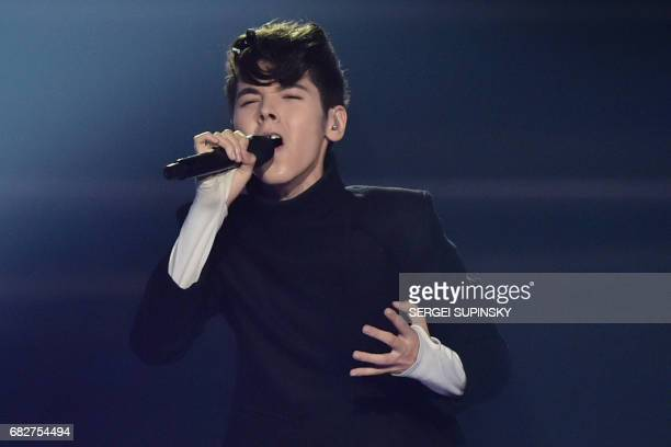 BulgarianRussian singer representing Bulgaria with the song 'Beautiful mess' Kristian Konstantinov Kostov aka Kristian Kostov performs on stage...