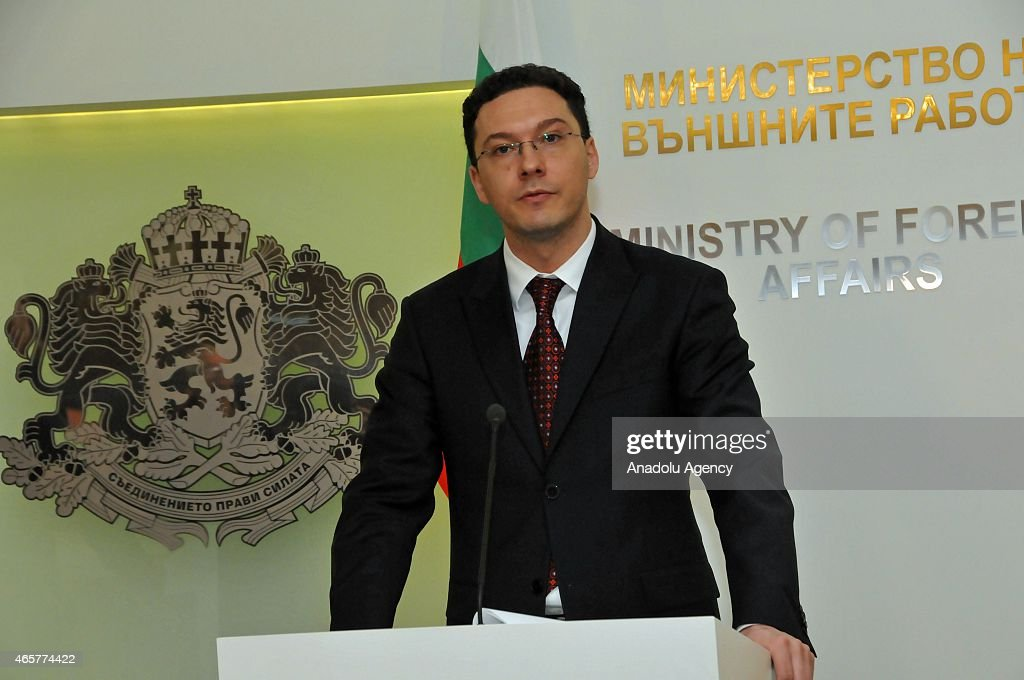 Bulgaria's Foreign Minister Daniel Mitov holds a press conference in Sofia, Bulgaria, on March 10, 2015.