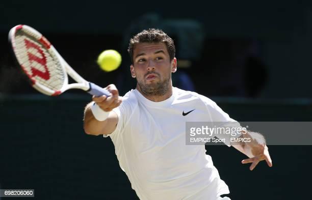 Bulgaria's Grigor Dimitrov in his Semi Final against Serbia's Novak Djokovic