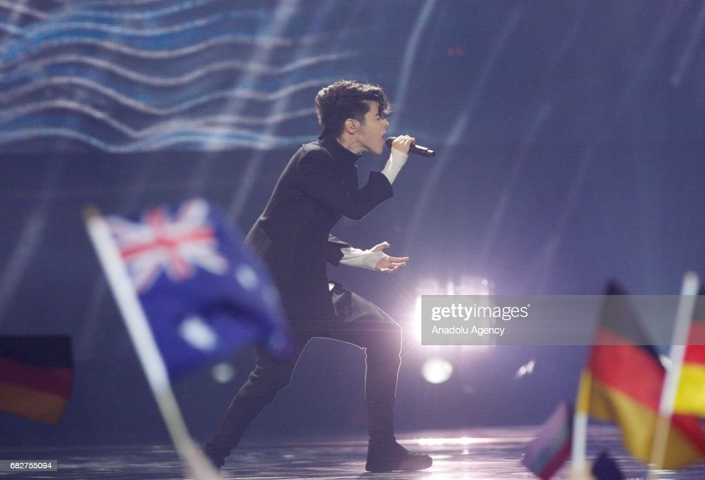 Bulgaria's representative for Eurovision 2017 Kristian Kostov performs on the stage during a the Grand-Final of the Eurovision Song Contest in Kiev, Ukraine, on May 13, 2017.