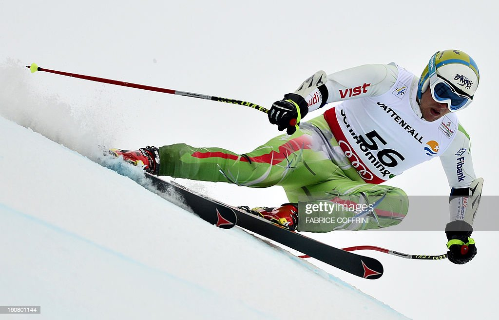 Bulgaria's Svetoslav Georgiev competes during the men's Super-G event of the 2013 Ski World Championships in Schladming, Austria on February 6, 2013.