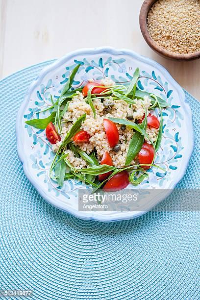Bulgur Salad With Tomatoes and Arugula