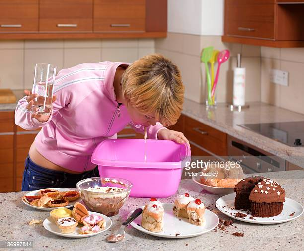 Bulimic binge eating and vomiting