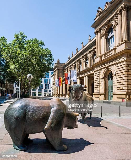 Bull & Bear at Frankfurt Stock Exchange