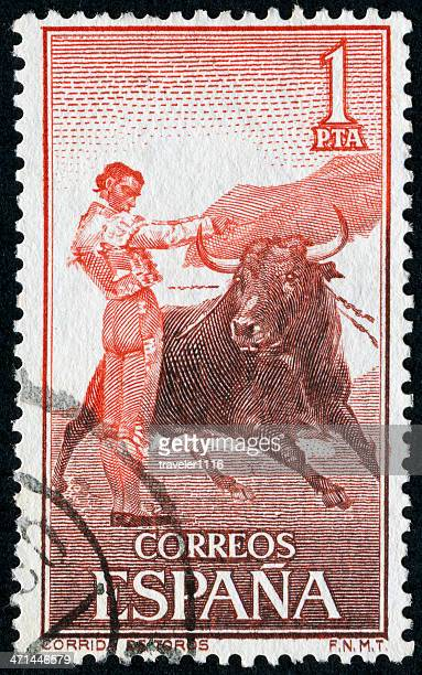 Bull Fighting Stamp