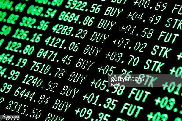 bull market buying-Grün-Daten trading Bildschirm