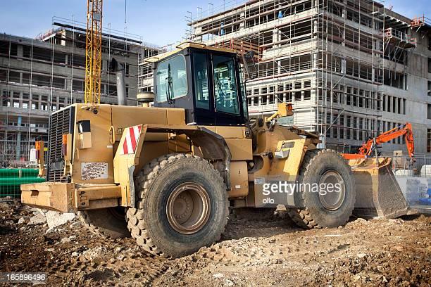 Bulldozer sur un site de construction