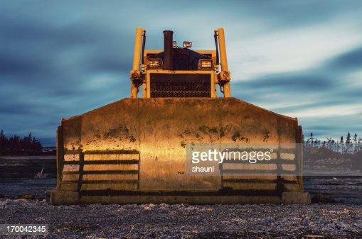 Bulldozer in Twilight