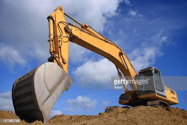 Bulldozer sur un panorama de nice