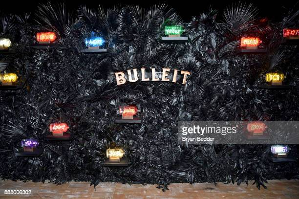 Bulleit Frontier Works' NEON In A Bottle display at 'A Celebration of Art Color' with Saatchi Art at Eden Roc Miami Beach on December 7 2017 in Miami...