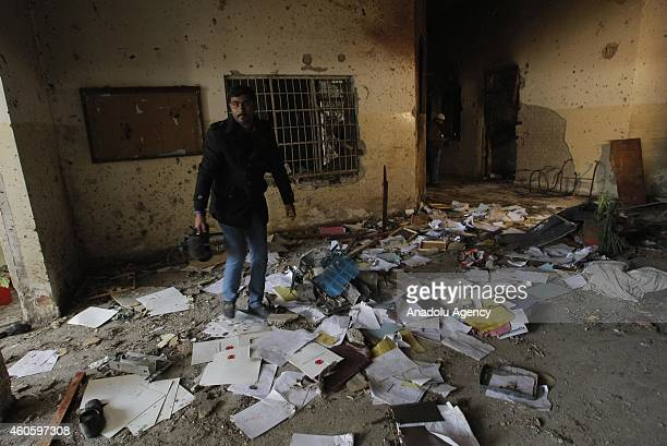 Bullet marks and mess are seen at an armyrun school which was stormed by Taliban gunmen in Peshawar Pakistan on December 17 2014 The deadly terror...