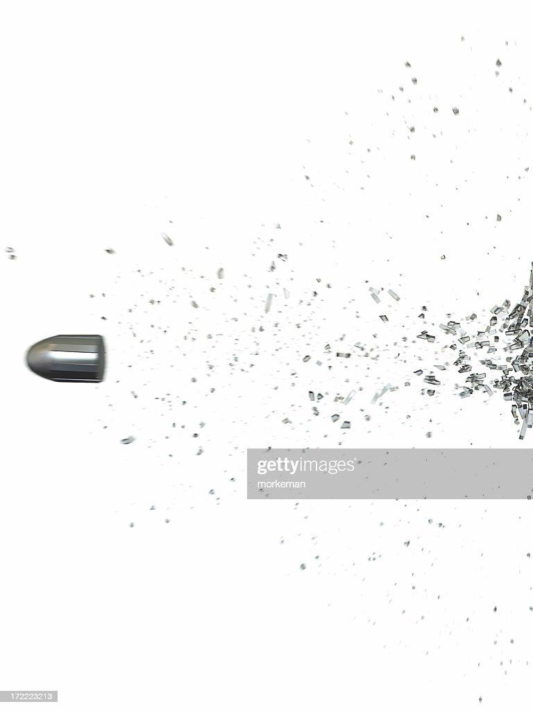 bullet shoot trough glas