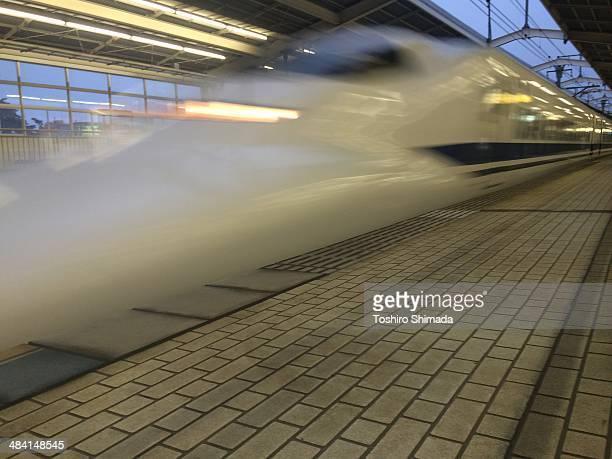 Bullet train in Atami Shizuoka