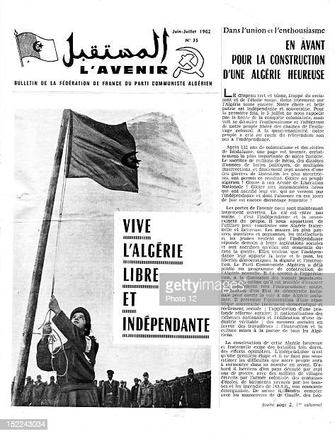 Bulletin of the French Federation of the Algerian Communist Party No 'Long live free and independent Algeria' Page 1 JuneJuly 1962 France Algerian...