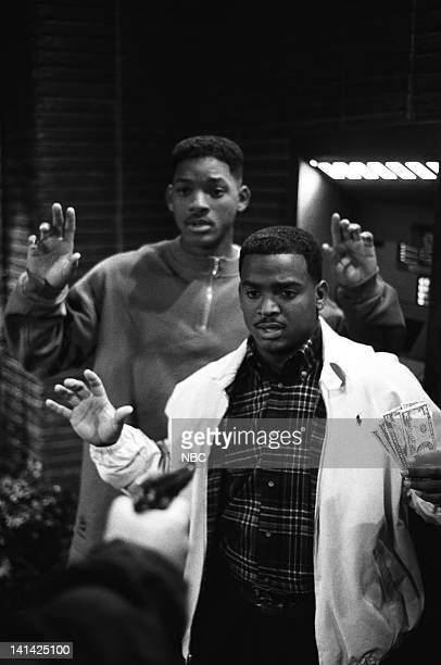 AIR 'Bullets Over BelAir' Episode 15 Air Date Pictured Will Smith as William 'Will' Smith Alfonso Ribeiro as Carlton Banks Photo by Chris Haston/NBCU...