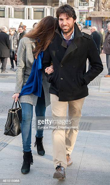 Bullfighter Cayetano Rivera and model Eva Gonzalez are seen on January 13 2015 in Madrid Spain