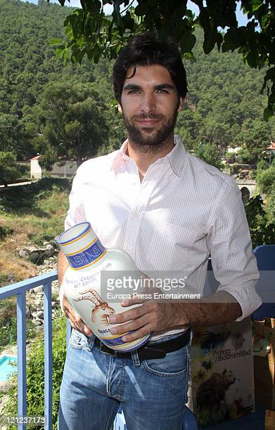 Bullfighter Cayetano Rivera receives '2011 Gredos Award' on August 16 2011 in Guisando Spain