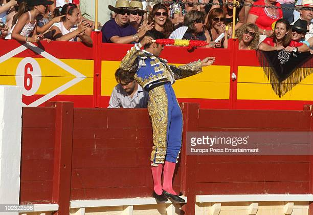 Bullfighter Fran Rivera performs during a bullfight at Alicante Bullring on June 23 2010 in Alicante Spain