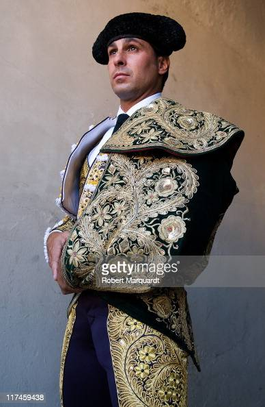 Bullfighter Francisco Rivera Ordonez 'Paquirri' of Spain dresses up before the first bullfight of the 2011 season after the bullfight ban at the...