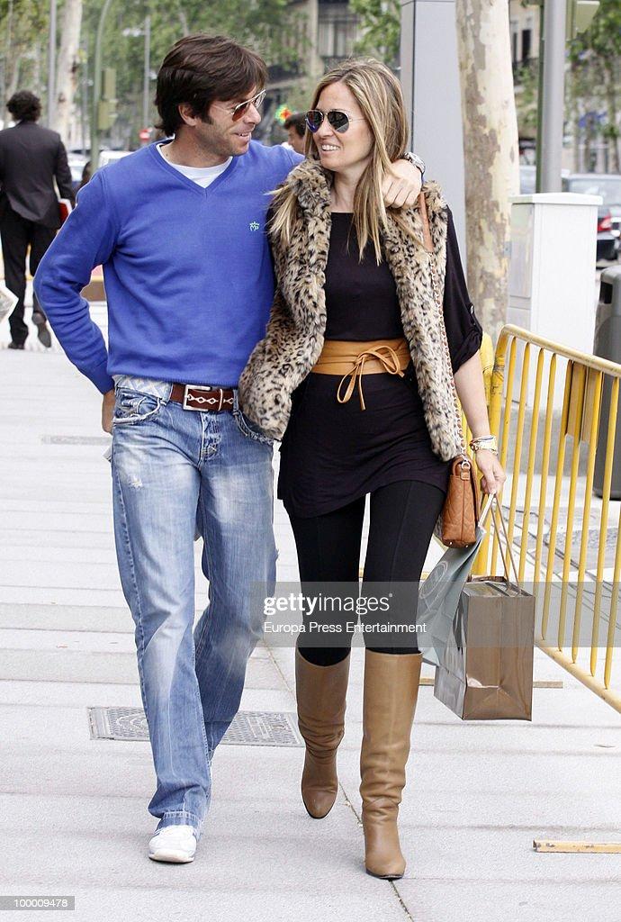 Bullfighter Jose Antonio Canales and Mari Carmen Fernandez sighting on May 20, 2010 in Madrid, Spain.