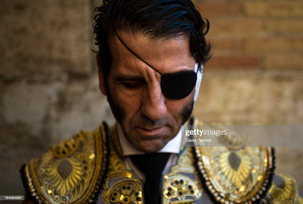 Bullfighter Juan Jose Padilla pauses for a moment before a bullfight as part of the Las Fallas Festival on March 18, 2013 in Valencia, Spain. The Fallas festival, which runs from March 15 until March 19, celebrates the arrival of spring with fireworks, fiestas and bonfires made from large ninots (puppets).