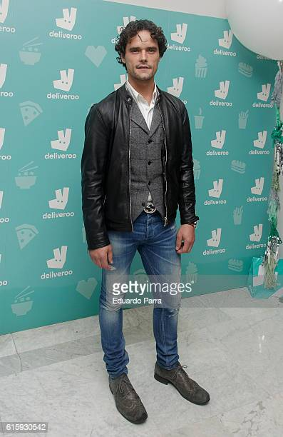 Bullfighter Miguel Abellan attends the Deliveroo aniversary party photocall at Circulo de Bellas Artes on October 20 2016 in Madrid Spain