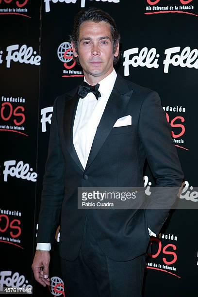 Bullfighter Sebastian Palomo Linares attends 'Folli Follie' new charity collection presentation on October 21 2014 in Madrid Spain