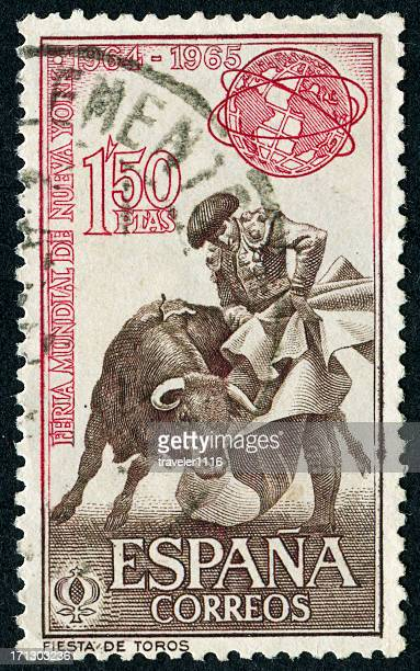 Bullfighting Stamp
