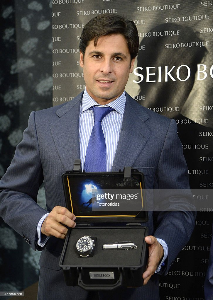 Bullfigther Francisco Rivera attends the 55th Gran Seiko Premium Collection anniversary at Seiko Preciados boutique on June 18 2015 in Madrid Spain
