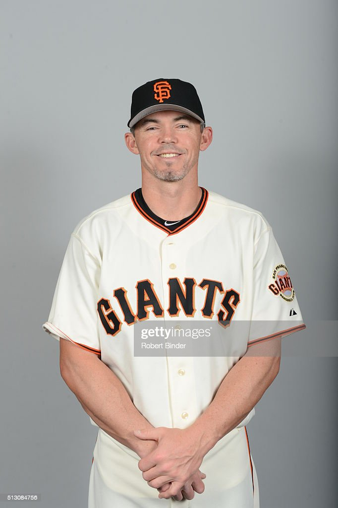 Bullpen catcher <a gi-track='captionPersonalityLinkClicked' href=/galleries/search?phrase=Eli+Whiteside&family=editorial&specificpeople=836374 ng-click='$event.stopPropagation()'>Eli Whiteside</a> #88 of the San Francisco Giants poses during Photo Day on Sunday, February 28, 2016 at Scottsdale Stadium in Scottsdale, Arizona.