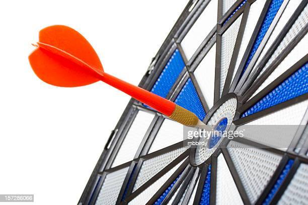 Bull's eye darts, isolated on white background