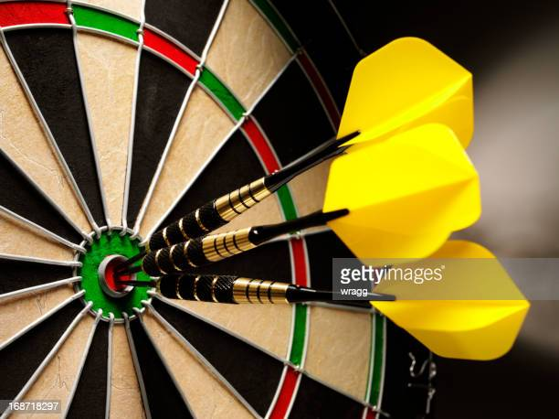 Bulls-Eye in eine Partie Darts
