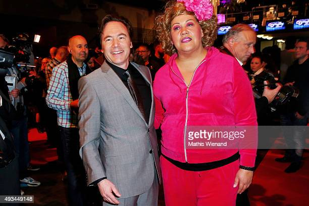 Bully Herbig and Cindy aus Marzhahn attend the 19th Annual German Comedy Awards at Coloneum on October 20 2015 in Cologne Germany