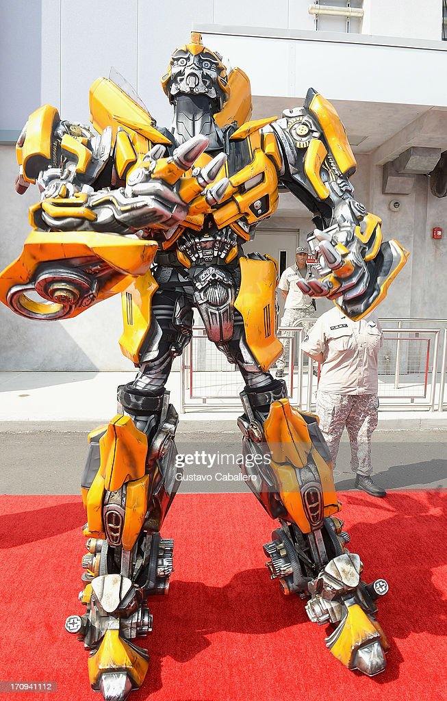 Bumblebee attends Transformers The Ride - 3D Grand Opening Celebration at Universal Orlando on June 20, 2013 in Orlando, Florida.