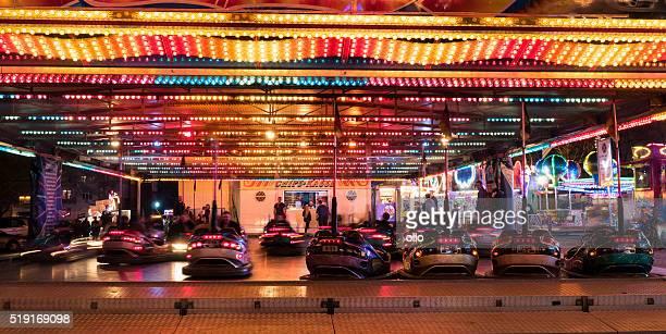 Bumper car ride fairground Wiesbaden Fruehlingsfest