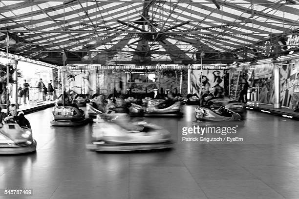 Bumper Cars In Amusement Park