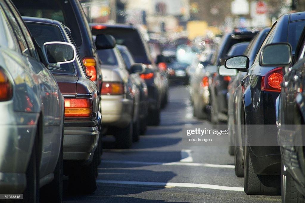 Bumper to bumper traffic : Stock Photo