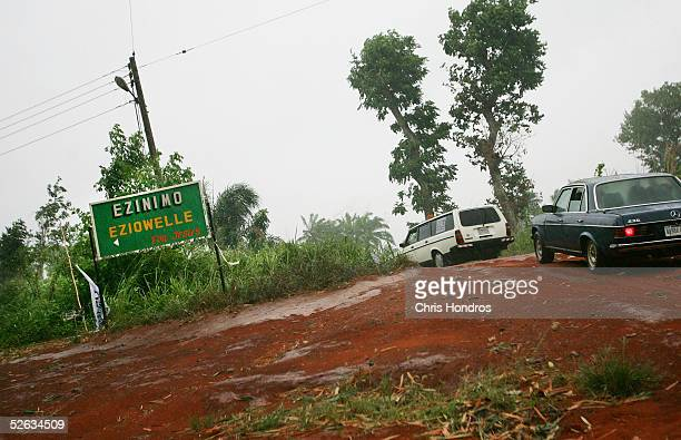 A bumpy dirt road leads to Cardinal Francis Arinze's home village April 14 2005 in Eziowelle Nigeria Cardinal Arinze is considered to be one of the...