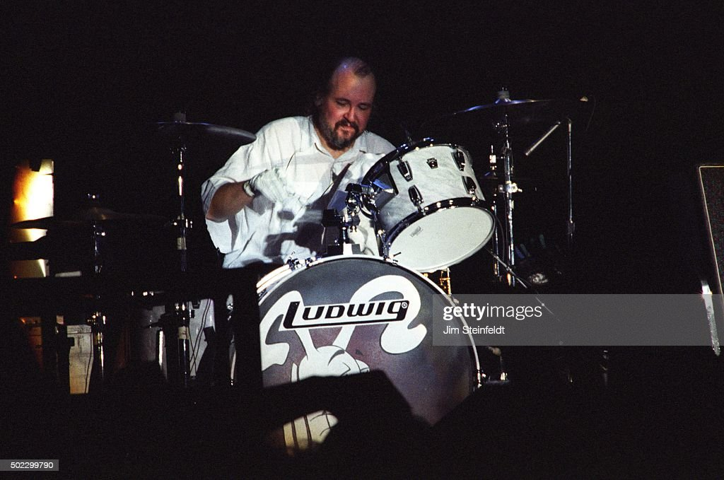Bun E Carlos of Cheap Trick performs at the Target Center on November 211990 in Minneapolis Minnesota in 1990