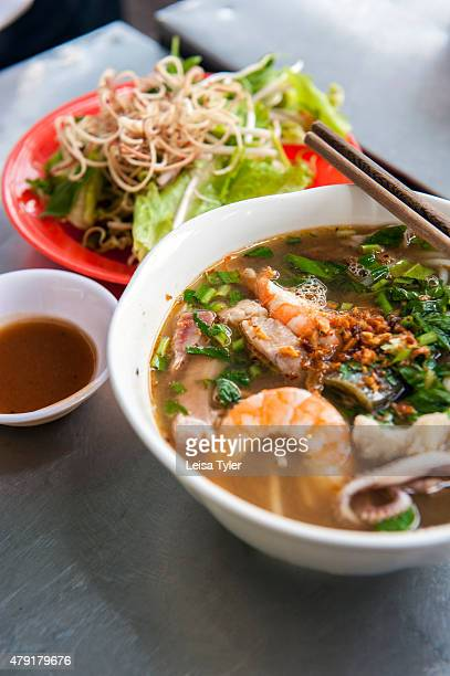 Bun Mam a fermented fish soup and southern Vietnamese delicacy at Bun Mam Dac San in Saigon